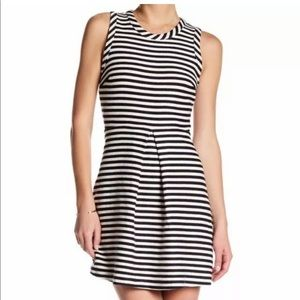 Madewell black and white stripe dress